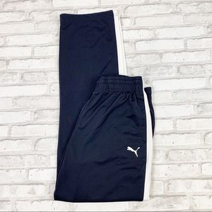 Puma Men's Navy Blue Contrast Track Pants Sz M